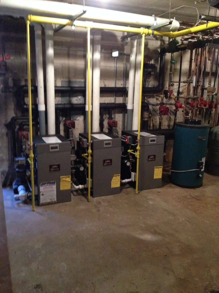 New Burnham Alpine Series Gas Converion installation