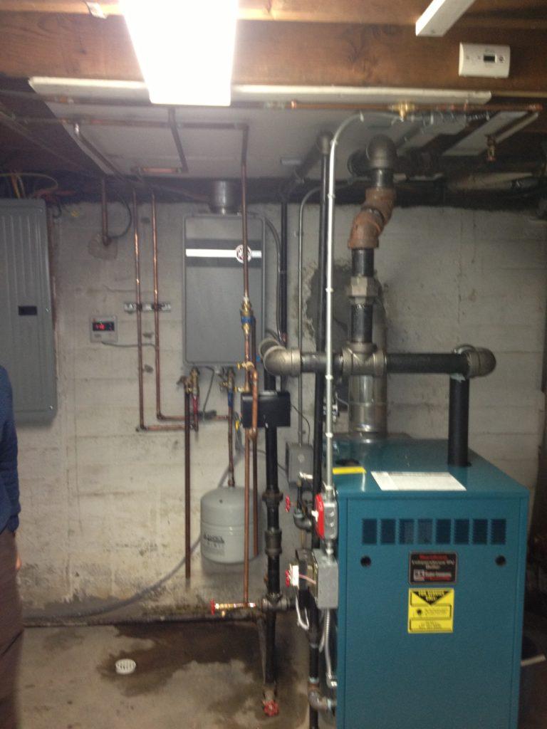 Burnham Steam Boiler and Rheem Tankless water heater