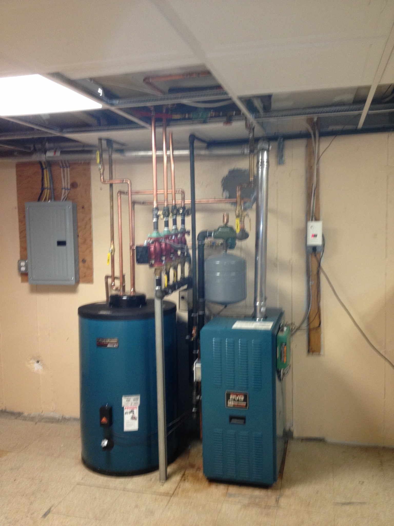 New Burnham PVG with Alliance indirect hot water heater